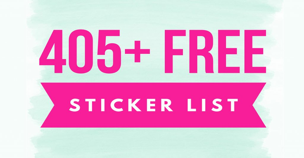 405 TOTALLY FREE Stickers By Mail LIST! - Free Samples By