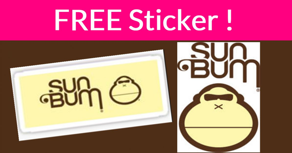 Free Sun Bum Sticker in the Mail - Free Samples By Mail