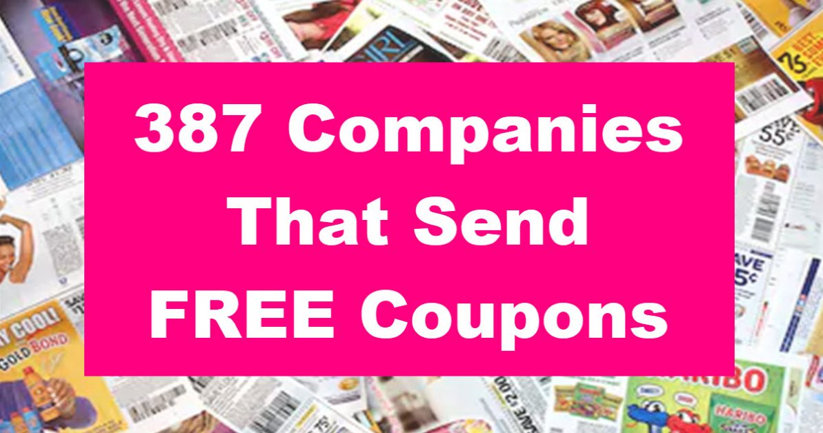 387 Companies That Send FREE Coupons - Free Samples By Mail | Free ...