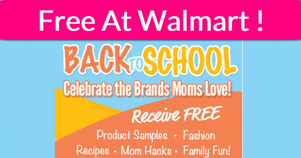 Free School Supplies at Walmart! - Free Samples By Mail
