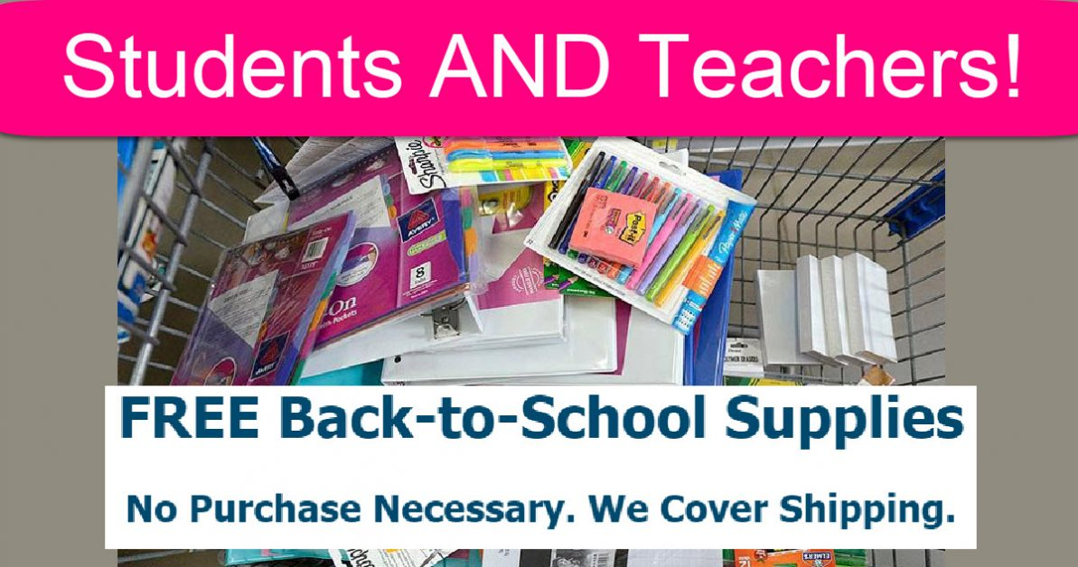TODAY ONLY! Free School Supplies For Teachers AND Students