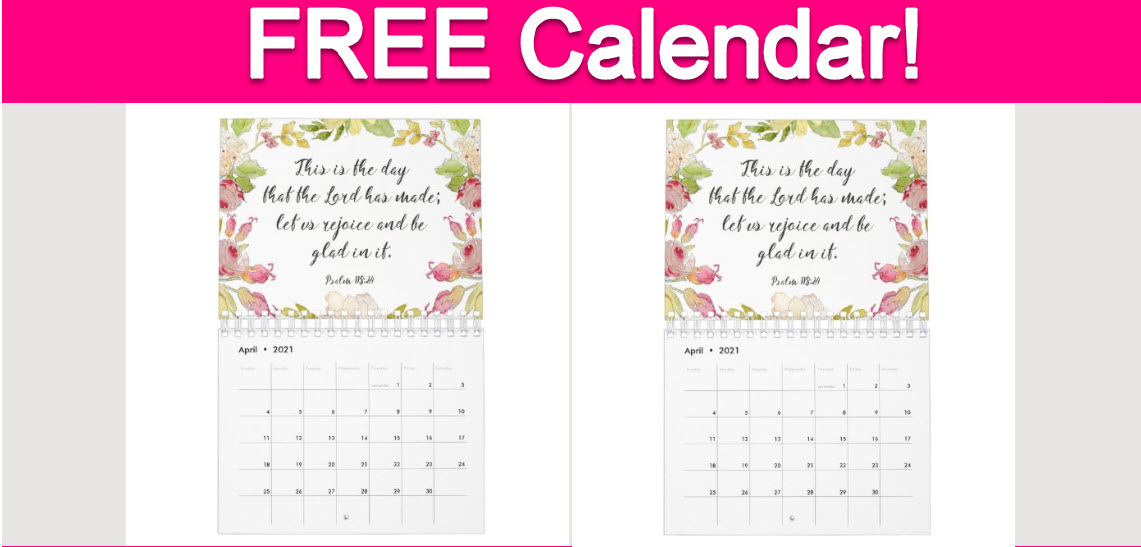 Free 2021 Hope Health Calendar!   Free Samples By Mail