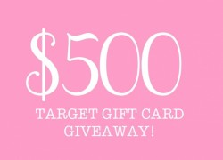 Enter to Win a $500 Target Gift Card!