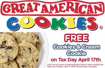 FREE Cookies & Cream Cookie at Great American Cookies on April 17
