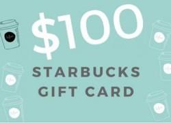 Win a $100 Starbucks Card!!