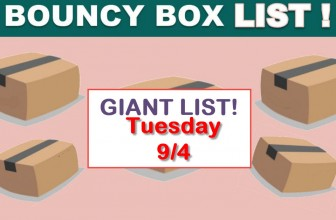 Best Bouncy Boxes Of The Day! [ BEST ODDS OF WINNING! ] = UPDATED 9/3