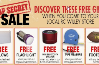 FREE Pillows, Flashlight, Bluetooth Speaker, and Tape Measure