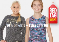 70% Off Girls Winter Jackets and Activewear + Extra 25% Off