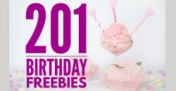 201 Birthday Freebies & Birthday Free Samples