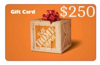 Win a $250 Home Depot Gift Card!