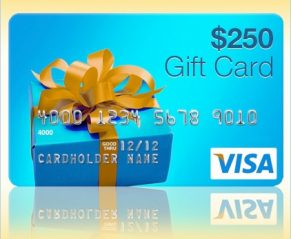 Win Two $250 Visa Gift Cards!