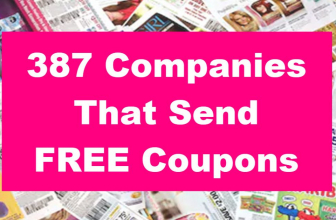 387 Companies That Send FREE Coupons