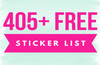 405 TOTALLY FREE Stickers By Mail LIST!