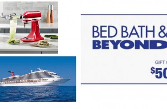 Instant Win a Cruise, $1,000 Bed Bath & Beyond + MORE!