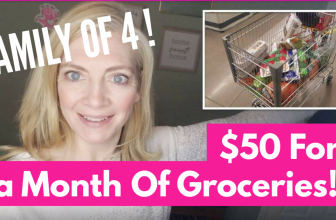 $50 In Groceries for 1 Month ! = NO Coupons = Family of 4