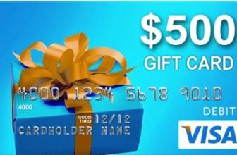 Win a $500 VISA GIFT CARD!!
