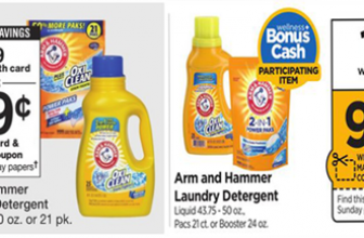 Arm & Hammer Laundry Detergent for $0.99 at Walgreens & Rite Aid
