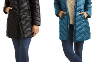 Big Chill Women's Long Chevron-Quilt Coat $18 (Reg $34.96)
