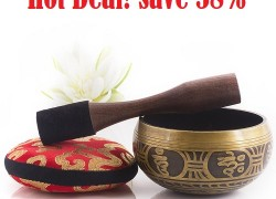 Antique Design Tibetan Singing Bowl Set – Save 58% Off!