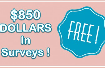 Earn a Possible $850 Dollars In Market Research Surveys!