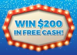 Win $200 in Free Cash!