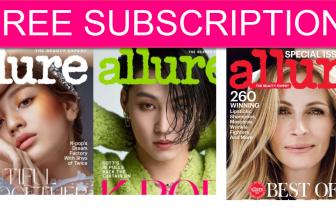 FREE 1 YEAR of Allure Magazine!