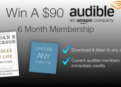 Win a 6 Month Audible Book Membership!
