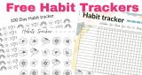 NEW! FOUR Free Habit Tracker Charts!
