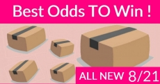 Best ODDS to win Bouncy BOXES = New 8/21