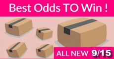 Best ODDS to win Bouncy BOXES = New 9/15