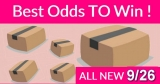 Best ODDS to win Bouncy BOXES = New 9/26