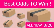 Best ODDS to win Bouncy BOXES = New 8/28