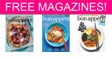 TOTALLY FREE Bon Appetit One Year Subscription!