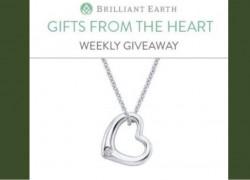 Win a Brilliant Earth Silver Heart Diamond Pendant