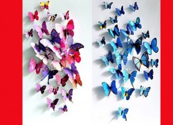 3D Butterfly Wall Decor 24ct ONLY $1.93 + Free Shipping
