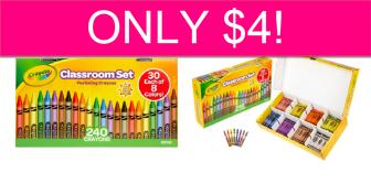 OMG! Crayola Classroom Set (240 Crayons) ONLY $4!