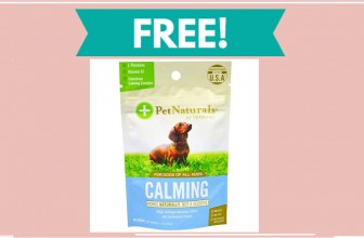 Get a FREE Sample of Calm Dog Supplements!