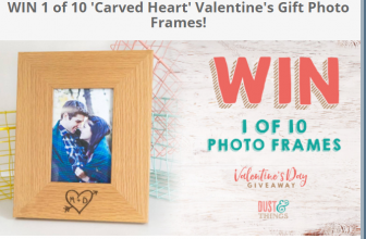 Win a Carved Heart Photo Frame!