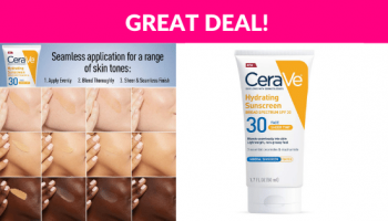 CeraVe Tinted Sunscreen with SPF 30