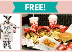100% FREE ENTREE' at Chick-Fil-A ! TOTALLY Chick-Fil-A!