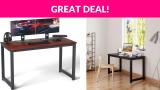 Coleshome Computer Desk 47 inch Modern Sturdy Office Desk