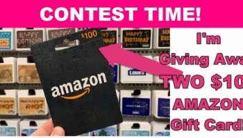 LAST DAY = WIN TWO $100 Amazon Gift Card !