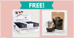 Totally FREE Sample of Copper Cow Coffee!
