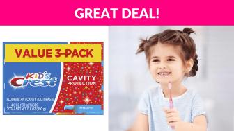 Crest Kid's Toothpaste 3-Pack
