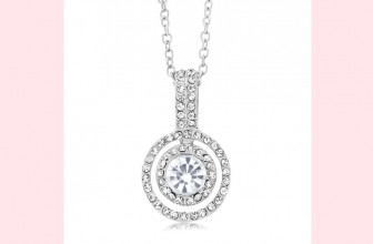 Beautiful! Double Halo Drop Necklace for $5.99 Shipped ( reg. $69! )
