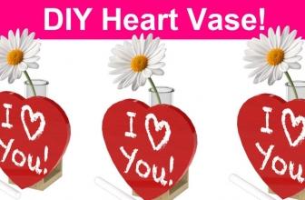 FREE DIY Heart Vase!