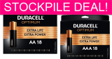 DEAL OF THE YEAR on Duracell Batteries!