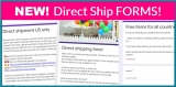⭐ 15 New Direct Ship FORMS! ⭐ ALL NEW!