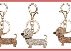 SO CUTE! Crystal Dog Keychain ONLY $2.73 SHIPPED!