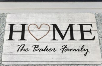 $12 for a Personalized Doormat ( Reg. $49.95 )